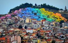 Rainbow Houses (feray umut) Tags: travel landscape landscapes architecture places rainbow culture nature