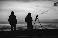 Shooting with Ivan (Thomas Hawk) Tags: america bayarea california ivanmakarov sfbayarea sanfrancisco sutrobaths usa unitedstates unitedstatesofamerica westcoast bw sunset fav10 fav25 fav50