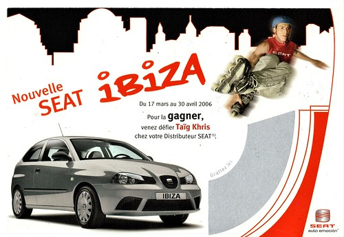 2006 SEAT Ibiza Postcard (France)