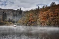 Cumbrian autumn (Nige H (Thanks for 25m views)) Tags: nature landscape autumn fall lake lakewindermere cumbria england mist boat