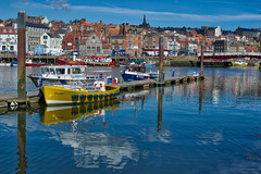 The Dash Reflection (daveseargeant) Tags: whitby harbour sea water seaside boat reflection sky cloud coastal coast town north yorkshire nikon df 50mm 18g aurorahd