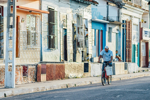 Man on Bicycle, Cienfuegos Cuba