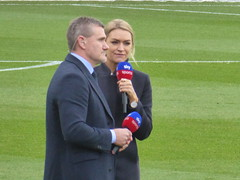 Sky Sports presenters (lcfcian1) Tags: crystal palace leicester city cpfc lcfc selhurst park epl bpl premier league football sport england crystalpalace leicestercity selhurstpark premierleague london andyhinchcliffe laurawoods