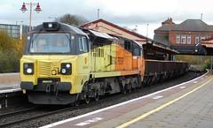70812 - Tyseley, West Midlands (The Black Country Spotter) Tags: tyseley railway station birmingham westmidlands colasrail class70 diesel locomotive 70812 networkrail britishrailways