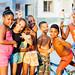 Cuban Kids in Golden Light, Cienfuegos Cuba