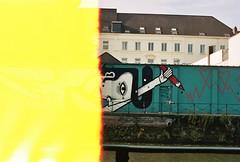 (CroytaqueCie) Tags: olympusom1n kodakportra400 zuiko50mm18 muraljoachim joachimlambrechts michelfrançois gent gand ghent streetart visitgent firstoftheroll crayonrouge redpen artbythewater artbytheriver artbythecanal artprèsdeleau trousdanslemur holeinthewall holesinthewall