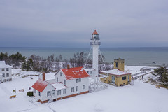Upper Peninsula Lighthouse (player_pleasure) Tags: lighthouse lakesuperior michigan puremichigan drone mavicpro2 mavic ariel historicplaces