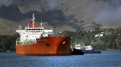 GARNET EXPRESS Oil/Chemical Tanker (Bernard Spragg) Tags: garnetexpressoilchemicaltanker vessel boat ship tugboat marine nautical harbour lumix compactcameras cco
