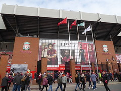 Outside The Kop (lcfcian1) Tags: liverpool leicester city lfc lcfc anfield stadium epl bpl premier league sport football liverpoolfc leicestercity liverpoolvleicester premierleague stadia