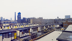 A View at an Angle (Day) (AntyDiluvian) Tags: england greatbritain britain london vintage 1973 hotel londonparkhotel elephantandcastle architecture smallhome smallhouse lambethhosital