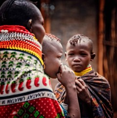 Turkana (Rod Waddington) Tags: africa african afrique afrika uganda ugandan eastern turkana tribe tribal traditional village female culture cultural child woman outdoor streetphotography street candid