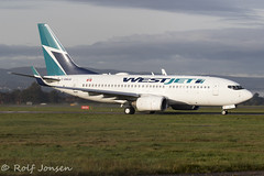 C-GWJG Boeing 737-700 Westjet Glasgow airport EGPF 21.10-19 (rjonsen) Tags: plane airplane aircraft aviation airliner taxying airside