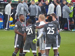 Leicester players after the match (lcfcian1) Tags: crystal palace leicester city cpfc lcfc selhurst park epl bpl premier league football sport england crystalpalace leicestercity selhurstpark premierleague london wesmorgan kasperschmeichel