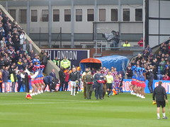 Teams enter the pitch (lcfcian1) Tags: crystal palace leicester city cpfc lcfc selhurst park epl bpl premier league football sport england crystalpalace leicestercity selhurstpark premierleague london cheerleaders