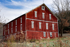 Barn (JCTopping) Tags: agriculture 6d 50mm white barn color wooden sigma shed pennsylvania architecture autumn rural fall canon red confluence unitedstatesofamerica