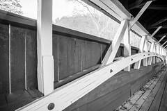 Covered Bridge (JCTopping) Tags: faidley 6d arch 19mm bridge wooden span pennsylvania lowerhumbert canon blackandwhite turkeyfoot covered confluence unitedstatesofamerica
