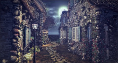 *There's nothing prettier than a village at 5 am, with its empty streets and cold wind* ❤️ (Ⓐⓝⓖⓔⓛ (Angeleyes Roxley)) Tags: missing melody nature houses sl secondlife outdoors