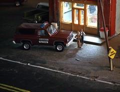 Flashback Nov 1982 ( 11/10/2019) (THE RANGE PRODUCTIONS) Tags: chevrolet chevroletblazer chevroletsilverado chevy 164scale dioramas diecast diecastdioramas car autoworld greenlight pickup model display toy