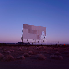 double feature. parker, az. 2018. (eyetwist) Tags: eyetwistkevinballuff sunset eyetwist arizona abandoned mamiya movie 50mm theater fuji desert dusk screen drivein velvia parker 6mf film analog ishootfilm chrome transparency 100 analogue fujichrome rvp fujivelvia100rvp ishootfuji mamiya6mf mamiya50mmf4l 120 6x6 mediumformat square landscape flat mojave lonely mojavedesert emulsion lenstagger epsonv750pro filmexif iconla cinema saturated peeling purple ruin magenta violet forgotten barren roadsideamerica derelict gloaming aftersunset americantypologies coloradoriver americana tumbleweeds doublefeature