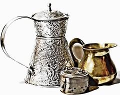 Shiny Things-HSS! (☼☼Jo Zimny Photos☼☼) Tags: sliderssunday shiny containers tin brass lightbox