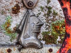 wayfarer (holly hop) Tags: rust caravan badge lichen wayfarer sliderssunday postprocessing rustyandcrusty