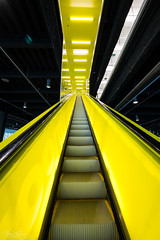 Yellow Escalator (explore) (Daren Grilley) Tags: architecture architect library koolhaas rem seattle downtown nikon z z6 1430 design art interior