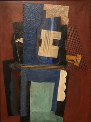 1915, Pablo Picasso, Guitar and Clarinet on a Mantelpiece (R.M.Lenox) Tags: pablopicasso metropolitanmuseumofart painting museum accuratecolor highresolution spanish spanishpainter spanishartist
