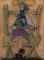 1938, Pablo Picasso, Dora Maar in a Wicker Chair (R.M.Lenox) Tags: pablopicasso metropolitanmuseumofart painting museum accuratecolor highresolution spanish spanishpainter spanishartist