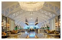 The Fullerton Bay Hotel, Singapore (~ veronicajwilliams photography ~) Tags: veronicajwilliamsphotography veronicajwilliams copyrighted singapore fuji fujixt20 fuji18135 fujifilm fujifilmxt20 fujiaustralia fujisingapore fullertonbayhotel hotel reflection architecture