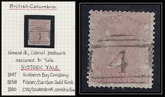British Columbia / B.C. Postal History - 1860 - Numeral 4 - Colonial Postmark Assigned to Yale (Treasures from the Past) Tags: circulardatestamp postalwayoffice postmaster postoffice britishcolumbia postalhistory bc county splitring brokencircle splitcircle postmark cancel cancellation marking son mail letter stamp canada britishcolumbiapostalhistory canadapost yale colonialpostmark historicyale hudsonsbaycompany goldrush cariboogoldrush numeral4