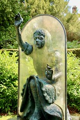 Alice Through the Looking Glass (adamsgc1) Tags: alicethroughthelookingglass guildfordcastle guildfordcastlegrounds jeanneargent castlehill guildford surrey england uk chestnuts alice alicepleasanceliddell charlesdodgson lewiscarroll lookingglass sculpture art