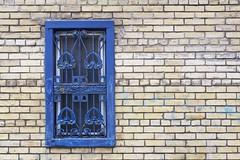 A Laneway Window (designwallah) Tags: flickrexplore inexplore blue laneway toronto window ontario canada ruelle alley