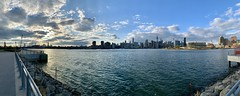 Barge Park Pano (rbs10025) Tags: panorama eastriver nyc skyline green point brooklyn newtownbargepark