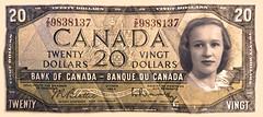 Queen Shirley (JFGryphon) Tags: photoshop notrealmoney queenshirley 1954banknote bankofcanada ha