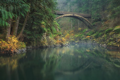 This Way To A Dream (Ian Sane) Tags: ian sane images thiswaytoadream bridge reflection eastforklewisriver moultonfallsregionalpark yacolt washington state clark county landscape photography nature wilderness autumn fall colors long exposure canon eos 5ds r camera ef1740mm f4l usm lens