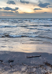 Stuff Keeps Falling In (The Charliecam) Tags: lakemichigan greatlakes sunset erosion eos r canon rf 24105 f4 waves water beach driftwood