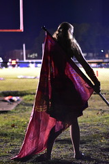 The hero prepares (loufsmith) Tags: montevallo montevalloalabama montevalloal auxillary colorguard fridaynights marchingband