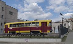 Tramvajs RVR-6M2 Vecajā tramvaju depo, 20.04.2019. (Dāvis Kļaviņš) Tags: latvia daugavpils panoramio