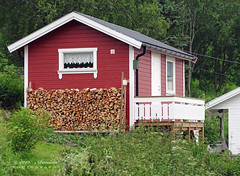 For the cold days... (♥ Annieta  very busy) Tags: annieta juli 2019 holiday vakantie vacances scandinavië camper reis voyage travel noorwegen norway sommarset kust coast dorp village huis house houtvoorraad wood allrightsreserved usingthispicturewithoutpermissionisillegal nordland