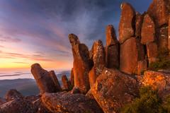 Crooked Pillars (Dylan Toh) Tags: mountwellington nisifilters australia australianlandscapephotographer autumn dawn dylantoh everlookphotography family hobart icebreaker mariannelim tasmania