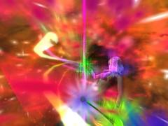 Now (Cherie Langer) Tags: poledance dance dancer lightshow fantasy blonde lingerie heels