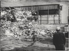 An old photo (wojciechpolewski) Tags: industry industrial industrialphoto industrialphotography workers ruined ruins poland wpolewski photos photo people bicycle blanconegro blackwhite schwarzweis blackandwhite