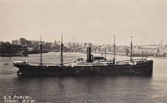 S.S. Puriri in Sydney Harbour, N.S.W. - late 1920s (Aussie~mobs) Tags: vintage sydney australia newsouthwales steamship sydneyharbour sspuriri 1920s ship cargo augsburg puriri tremere