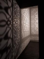 'Wheriko - Brilliant ' Exhibition, Christchurch, NZ (scinta1) Tags: newzealand christchurch artgallery exhibition anilaquayyumagha shimmeringmirage light shadows entrance tepunaowaiwhetu wherikobrilliant