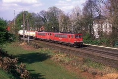 155 077 + 155 032  Ratingen - Lintorf  28.03.14 (w. + h. brutzer) Tags: ratingenlintorf eisenbahn eisenbahnen train trains deutschland germany railway elok eloks lokomotive locomotive zug db dr 155 250 webru analog nikon