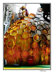 honey bee...? (harrypwt) Tags: harrypwt borders framed westjava fujix70 x70 sentul interesting building city pattern