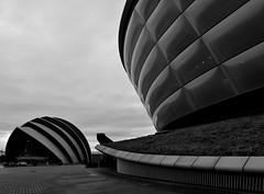 Modern Glasgow (Valantis Antoniades) Tags: sse hydro scotland glasgow modern architecture black white sec armadillo