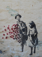 Thank You (daisyglade) Tags: remembrance sunday streetart mevagissey lestweforget poppies soldier hi