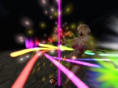 Midnight (Cherie Langer) Tags: poledance dance dancer lightshow fantasy blonde lingerie heels
