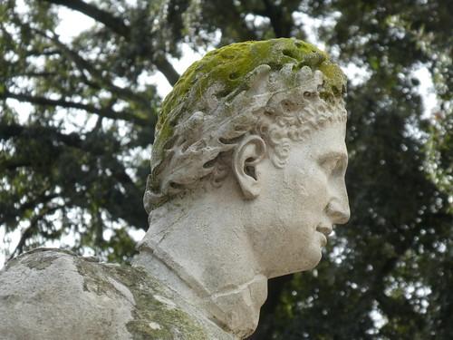 Italy - Rome - Villa Borghese - Galleria Borghese - Gardens - Sculpture